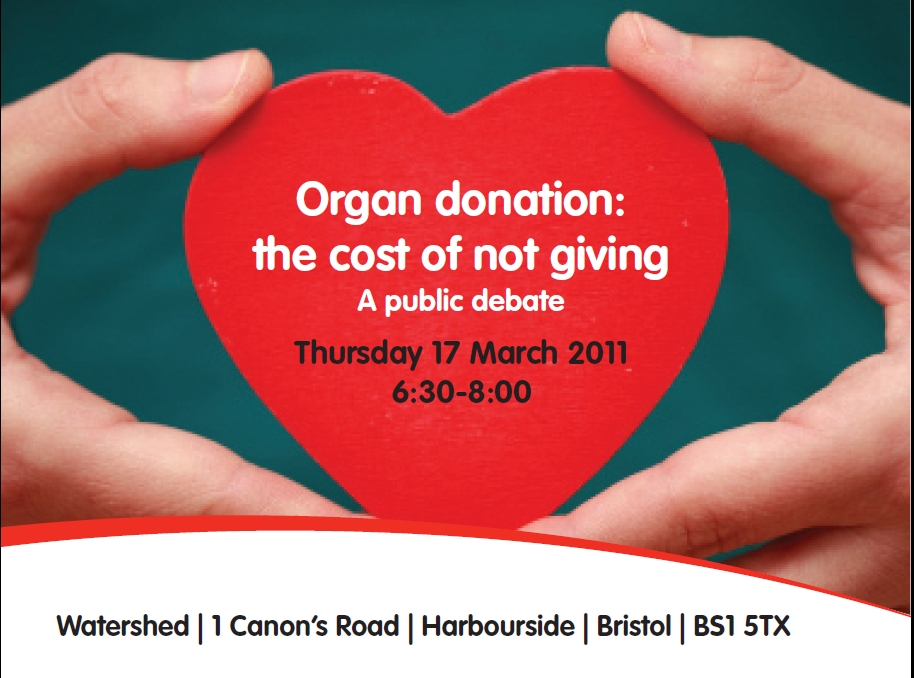 Organ Donation – A Public Debate – Bristol, 17 March