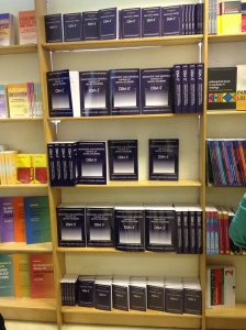 Book display at the DSM5 conference, Institute of Psychiatry, 4 June 2013