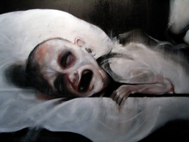 Fig 1. Jac Saorsa (2010) Dying Child, oil on canvas